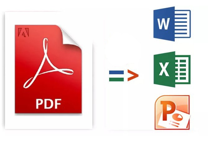 Voy a convertir PDF a Word, Excel, Powerpoint, jpg, ai