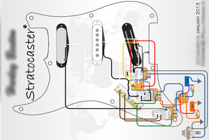 [XOTG_4463]  Design custom guitar wiring diagram by Paulo2534 | Wiring Diagram Guitar |  | Fiverr