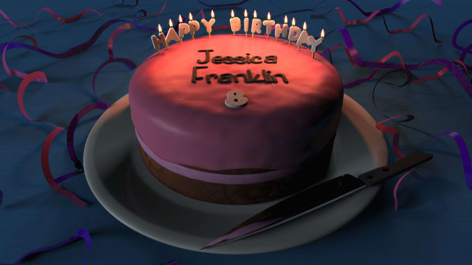 Tremendous Create A Personalized 3D Birthday Cake Image By Omniflair Funny Birthday Cards Online Sheoxdamsfinfo