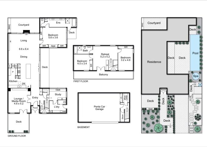 Redraw Floor Plan Using Illustrator In 2 Hours By Jack Vn Fiverr