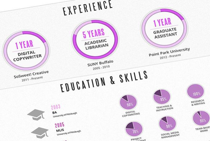 create stunning and creative infographic resume by zaini7228