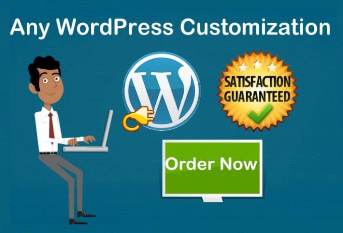 I will do any wordpress customization and design wordpress website