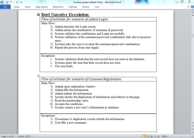 Write Software Requirement Specifications Document By Imranzaib509