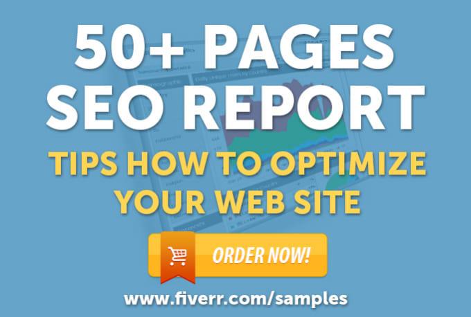 create killer SEO report to optimize your website