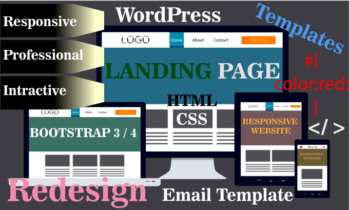 Design Website Landing Page Responsive In Html5 Css3 By Saif Ithub