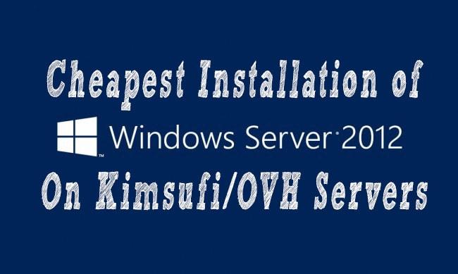 Dedicated server kimsufi q