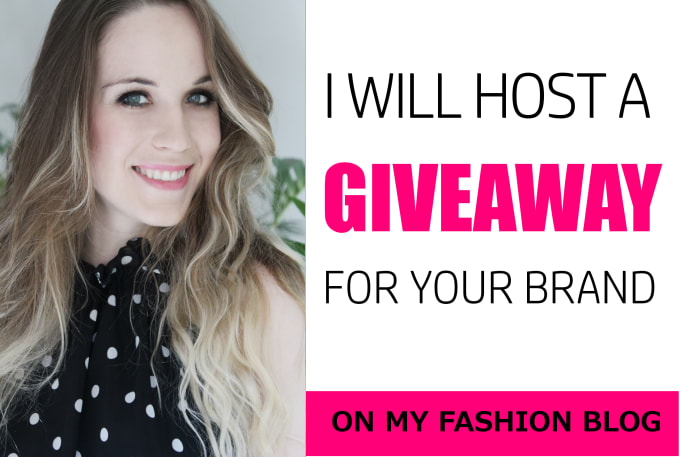 host a giveaway for your brand on my fashion blog