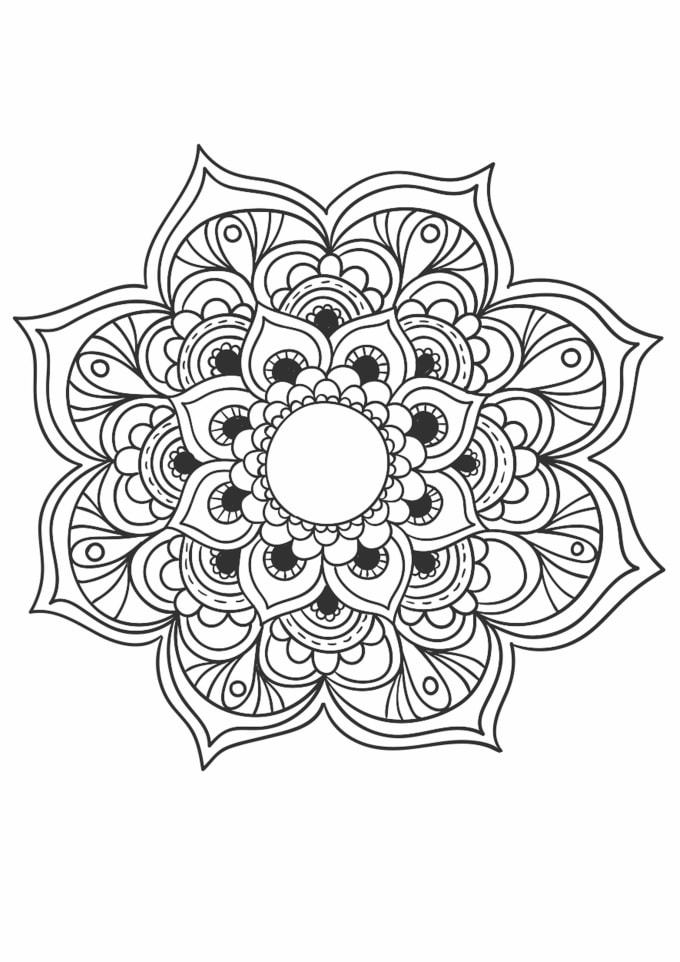 Send you 10 beautiful mandala coloring book pages by ...