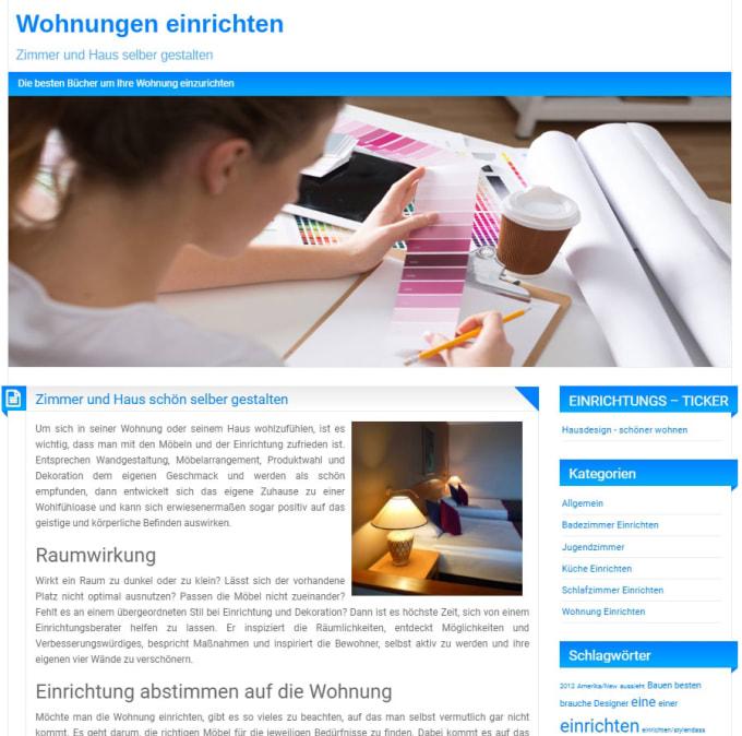 Write an article on a german interior design blog in deutsch by Rc_com
