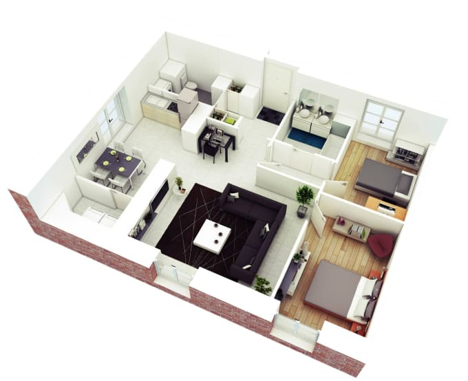 Do interior design on sweet home 3d and homebyme by ...
