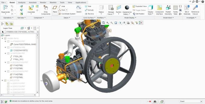 Do 2d 3d Cad Models In Creo Solidworks Unigraphics Nx