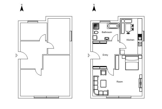 Draw A Floor Plan In Coreldraw By Roplans Fiverr