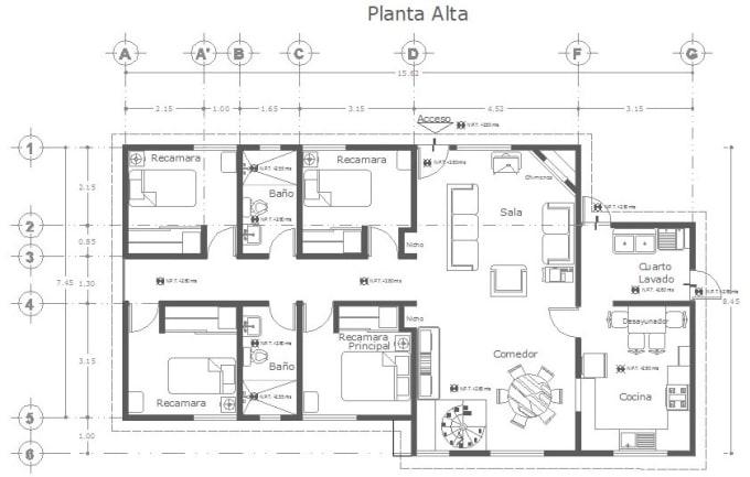 Crear Planos De Planta Profesional En 2d En Autocad By Arqmariam Fiverr
