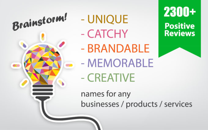 Help You Think Of 5 Business Names Company Names Brand Names Web Domain Names By Nanico