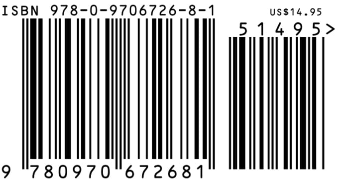 Create a barcode and isbn for your book by Booksmango