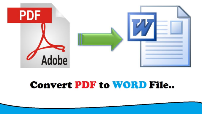 convert PDF to word file with high quality