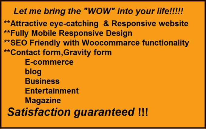 design eyecatching websites using wordpress