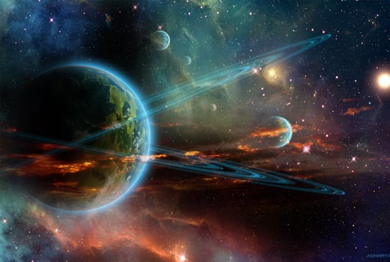 Send you an amazing outer space screensaver by Acharyapolina