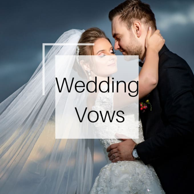 write your wedding vowscorinapariza  fiverr
