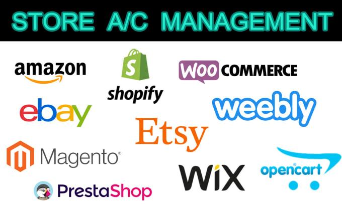 Manage Your Ecommerce Store Amazon Ebay Shopify Etsy Woocommerce By Sangrambharat