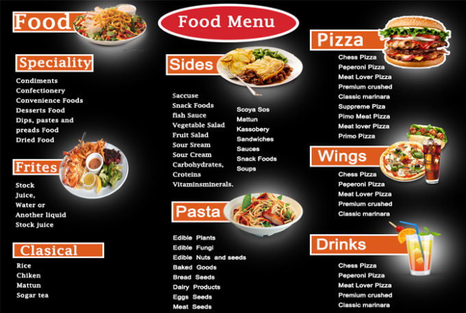 Design amazing food menu by Riponroy181