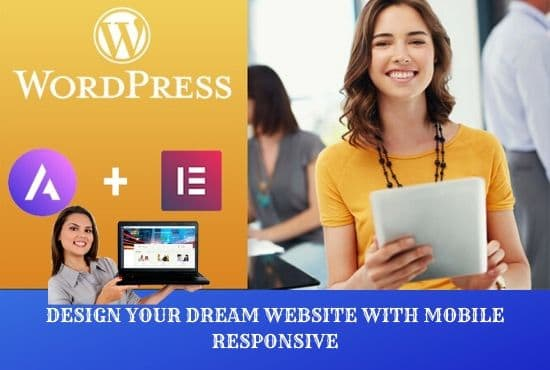 I will design your wordpress website using elementor pro page builder