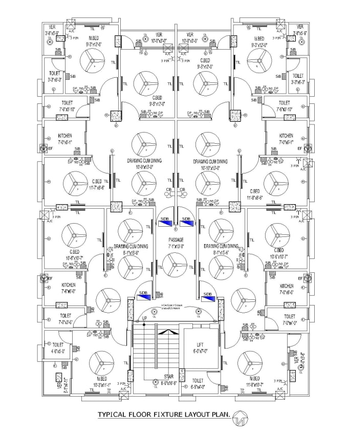 create floor plan and electrical drawing in autocad 2d by