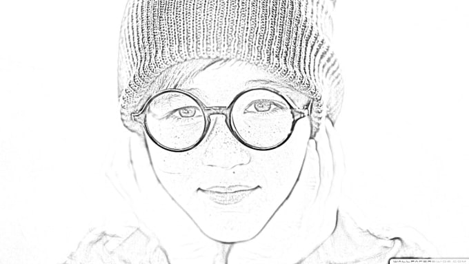 make your picture digital pencil sketch for you