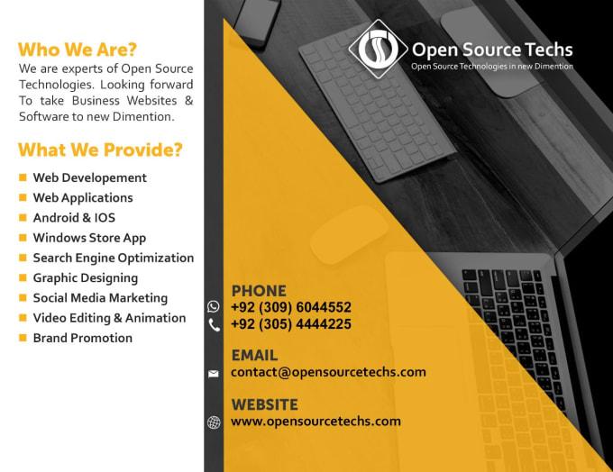 Design Banner Broucher Flyer Vcard Design By Opensourcetechs