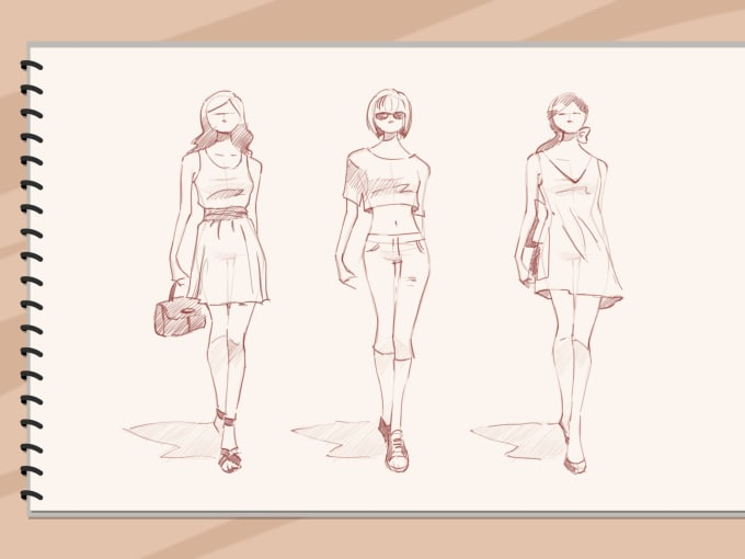 Make Fashion Illustrations And Sketch Fashion Designs By Dulanidesigns