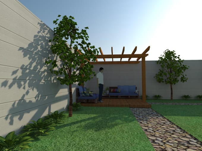 design backyard, front yard,terrace landscape drawings