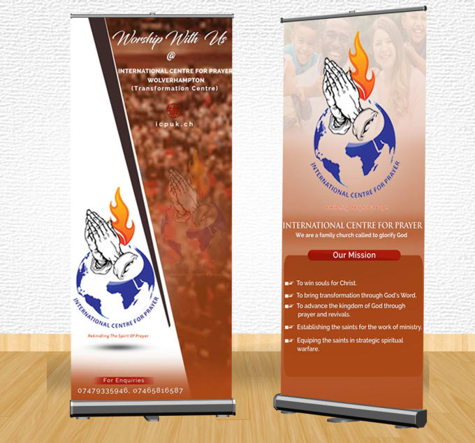design a stunning church flyer or poster