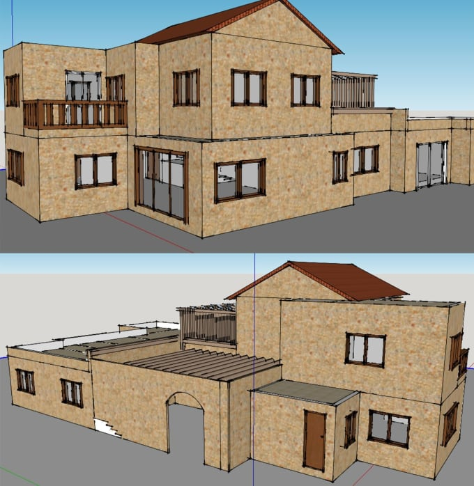 convert any PDF or image architectural design into 3d model