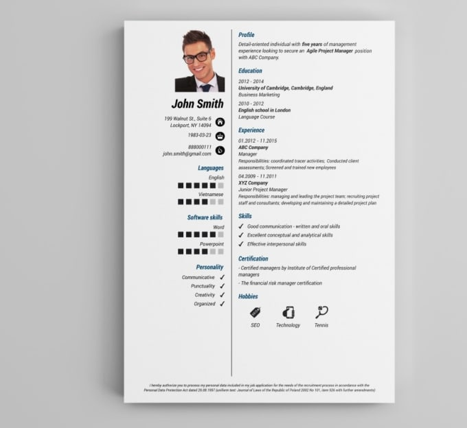 Create A Resume, Cv, Cover Letter, And Linkedin Profile By