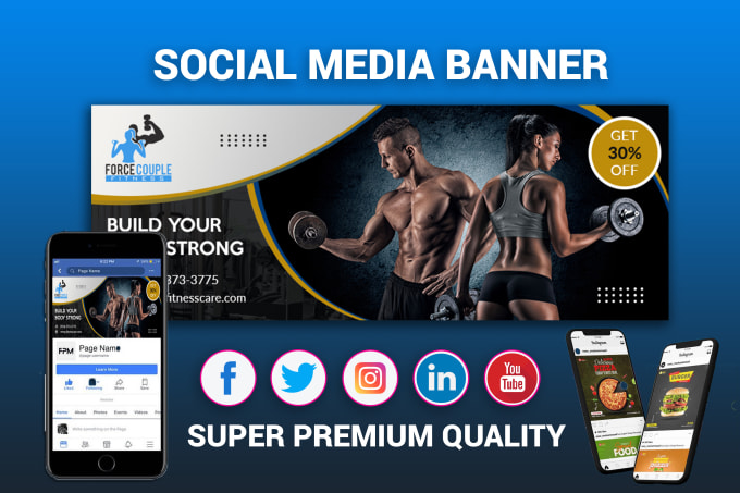 design your facebook cover or any one social media banner