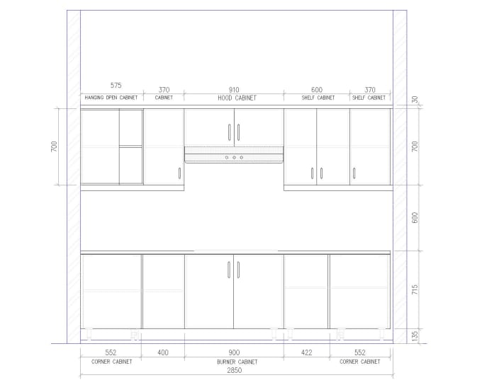 Draw Kitchen Cabinet And Architecture Design Floor Plan By Mahmud4100 Fiverr