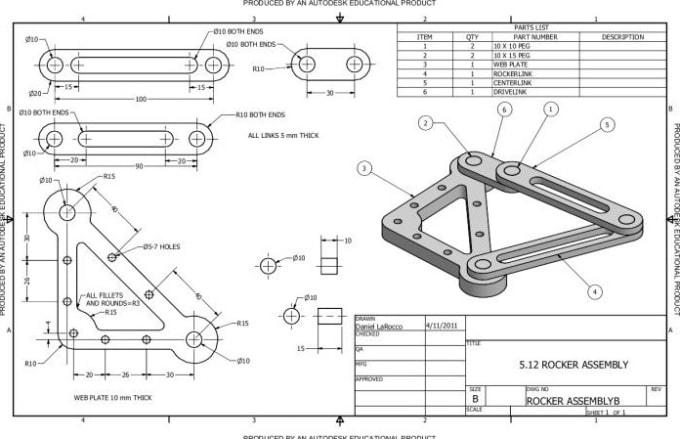 do technical drawing  mechanical design and 3d cad