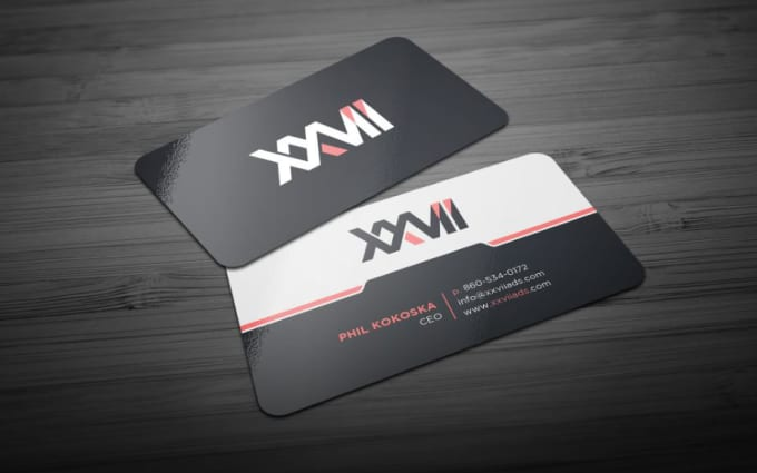 create modern and professional business card with 5 hours
