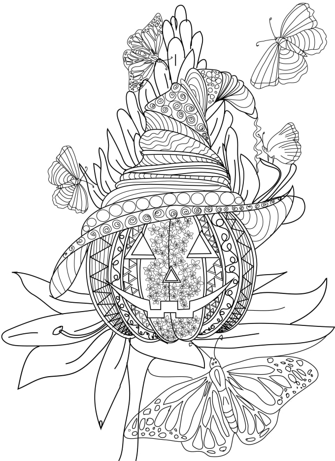 Create An Awesome Coloring Pages For Adult By Rabiabatool Fiverr