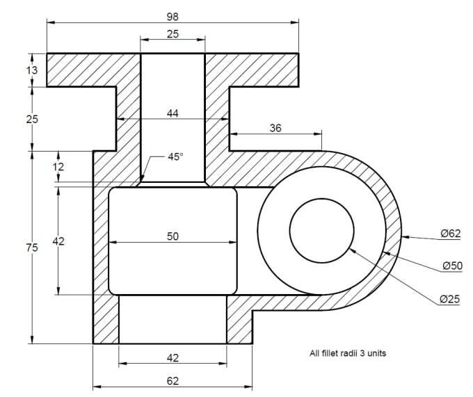 provide 2d and 3d drawing of mechanical part by osaf altaf
