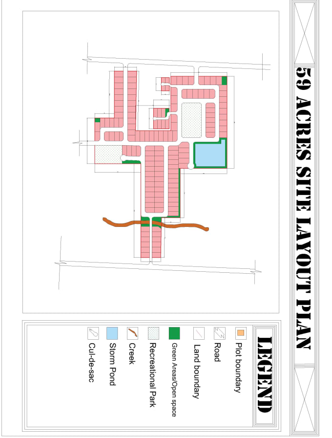 Design New Town Estate Housing Scheme Layout Plan On Your Area Of Land By Deen Hayor