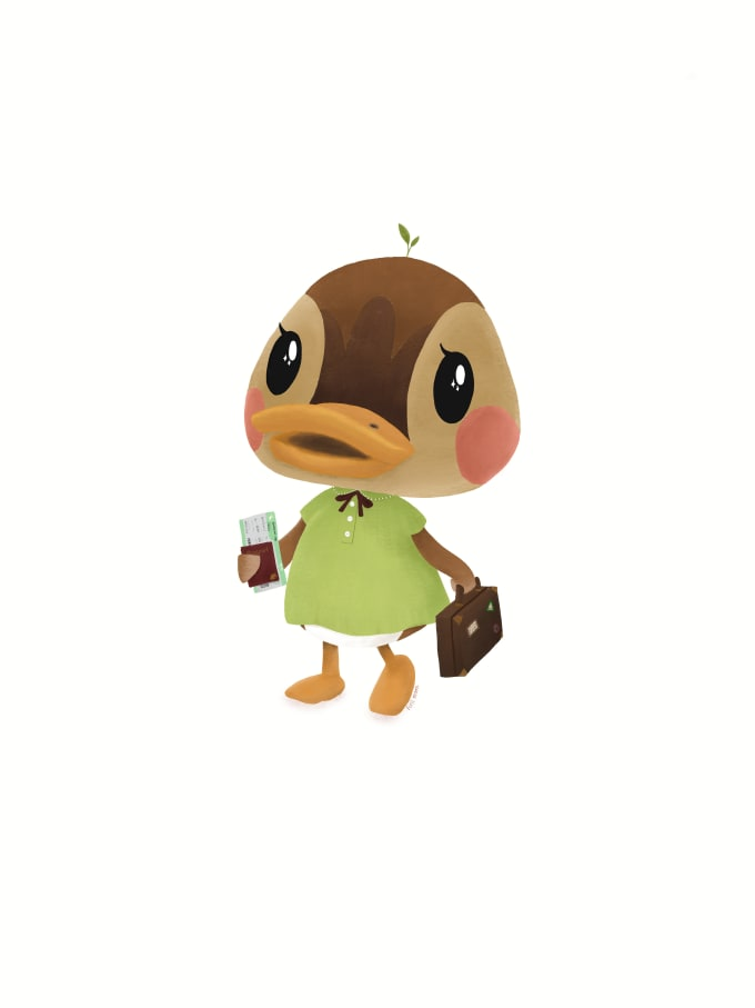 Illustrate Animal Crossing Characters For New Horizons By Firil Moon