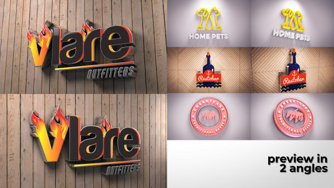 design logo and make it 3d with unlimited revision