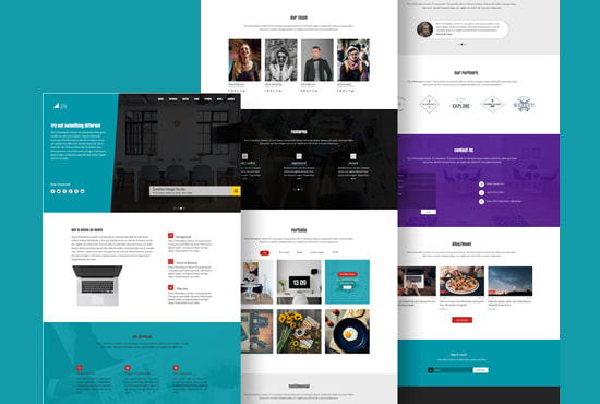 create one page wordpress website or landing page