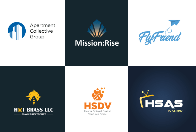 create your unique modern custom business logo design