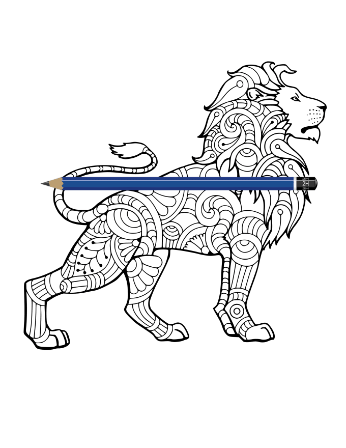 Create Your Animal Mandala Zentangle, Adult Coloring Page By Okyoussef  Fiverr