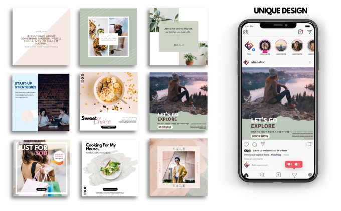 design creative social media post and banner for instagram, facebook