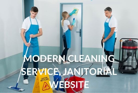 do cleaning service, janitorial website with online booking
