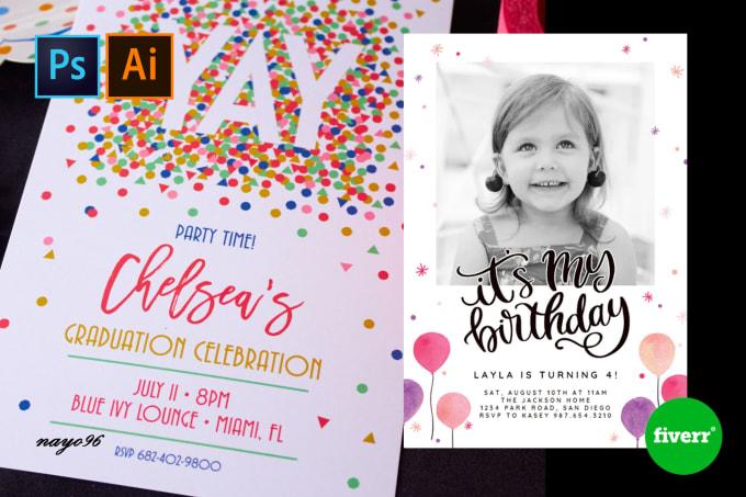 design professional birthday invitations and greeting