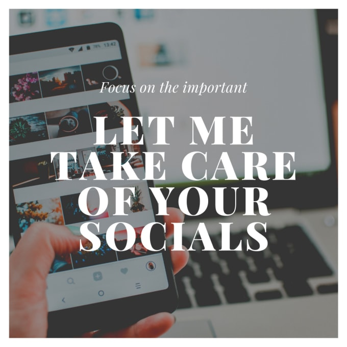 be your social media content creator